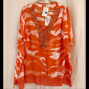 NWT Krista Lee Orange Tunic